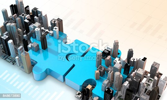 470163746 istock photo merger and acquisition business concept, join puzzle 3d 848673890