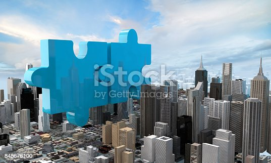 470163746 istock photo merger and acquisition business concept, join puzzle 3d 848676100