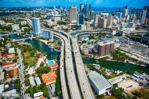 istock Merging Freeways In Downtown Miami Florida Aerial View 679870680