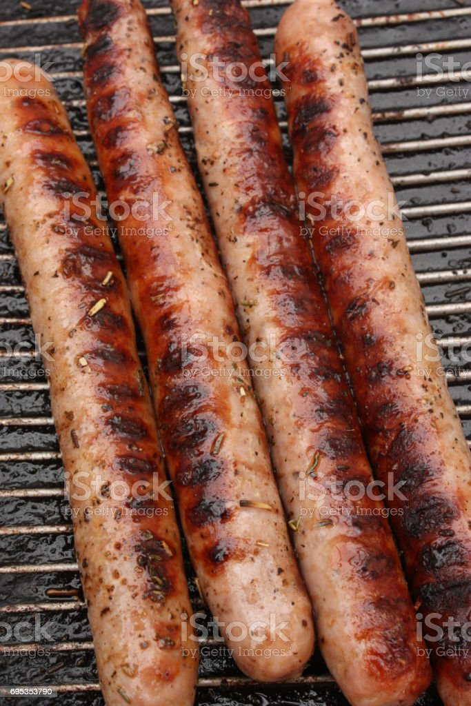 Merguez with Herbs of Provence stock photo