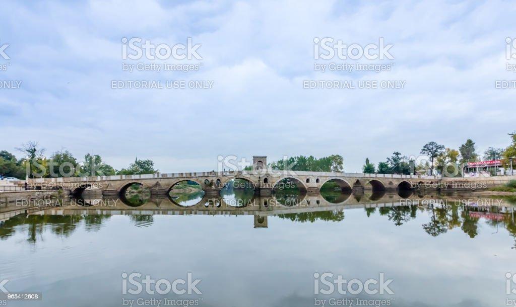 Meric Brücke auf Meric River in Edirne, Türkei - Lizenzfrei Alt Stock-Foto