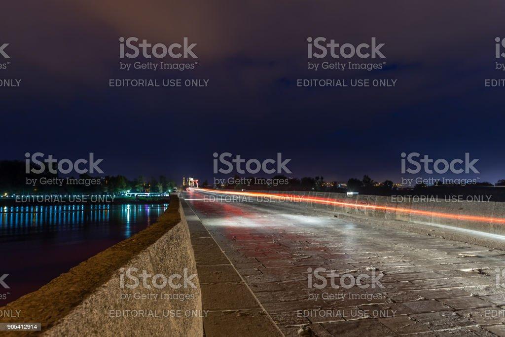 Meric pont sur la rivière Meric à Edirne, Turquie - Photo de Arc - Élément architectural libre de droits