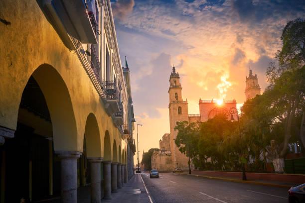 Merida San Idefonso cathedral Yucatan stock photo