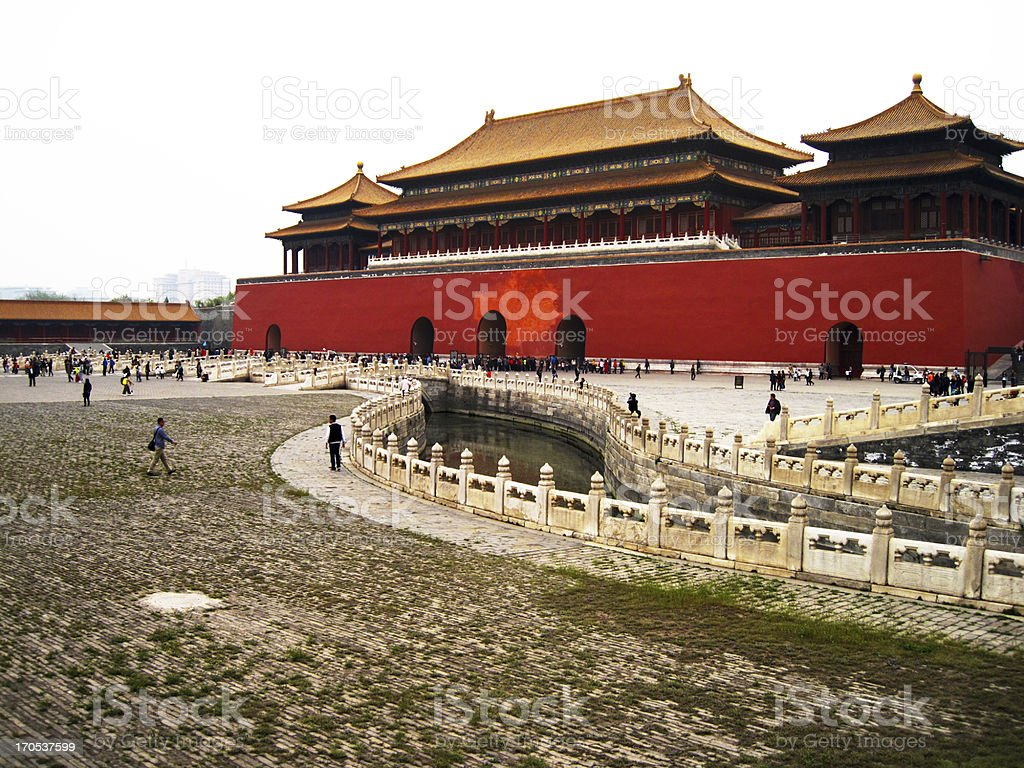 Meridian Gate of the Forbidden City stock photo