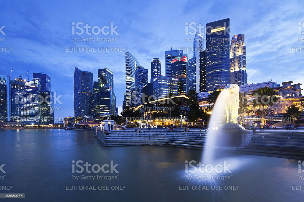 Merilon Statue, Singapore royalty-free stock photo