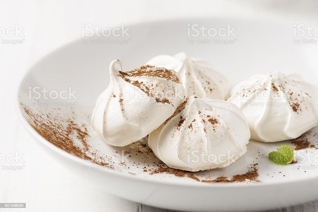 Meringue Cookies stock photo