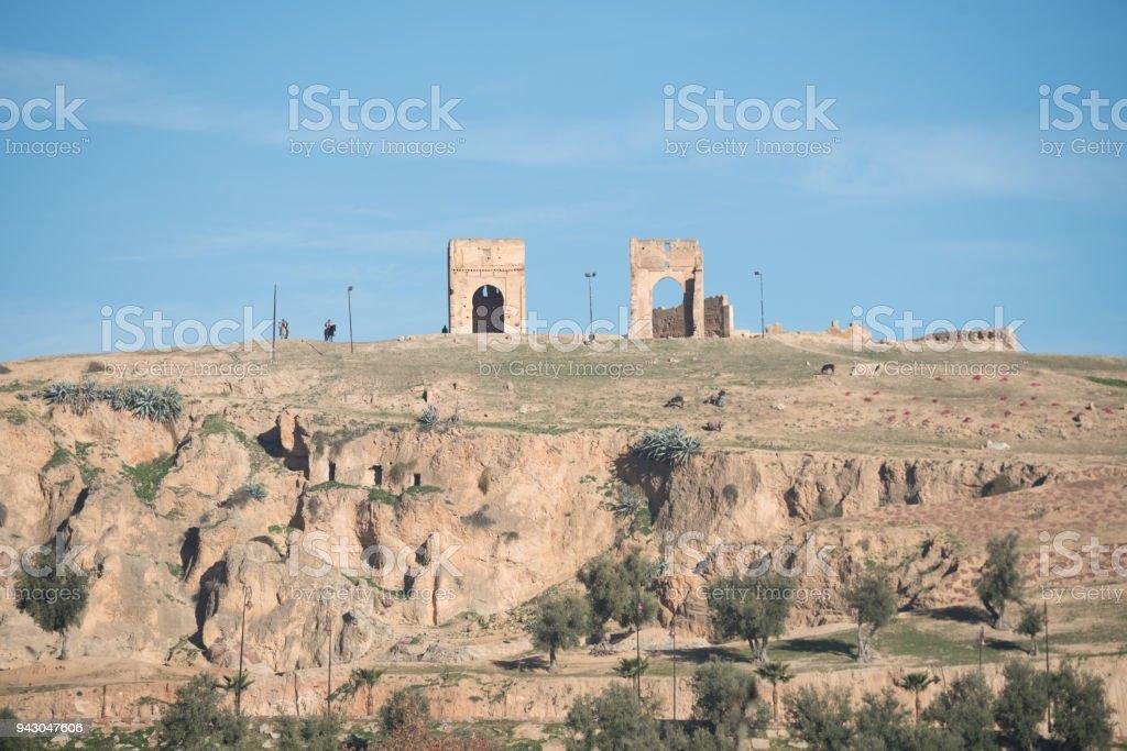 Tumbas Merínidas (ruinas), Fez, Marruecos - Foto de stock de Aire libre libre de derechos