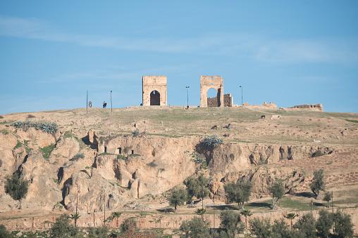 Tumbas Merínidas Fez Marruecos Foto de stock y más banco de imágenes de Aire libre