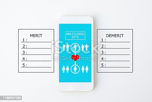 1125634019 istock photo Merit and demerit by using matching application 1188597095