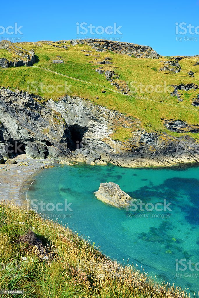 Merlin's Cave - England,UK stock photo