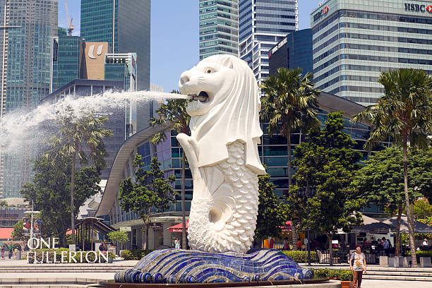 Merlion of Singapore  merlion statue stock pictures, royalty-free photos & images