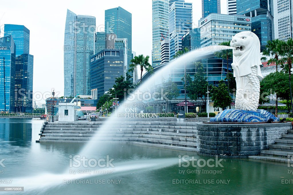 Merlion Park, Singapore stock photo