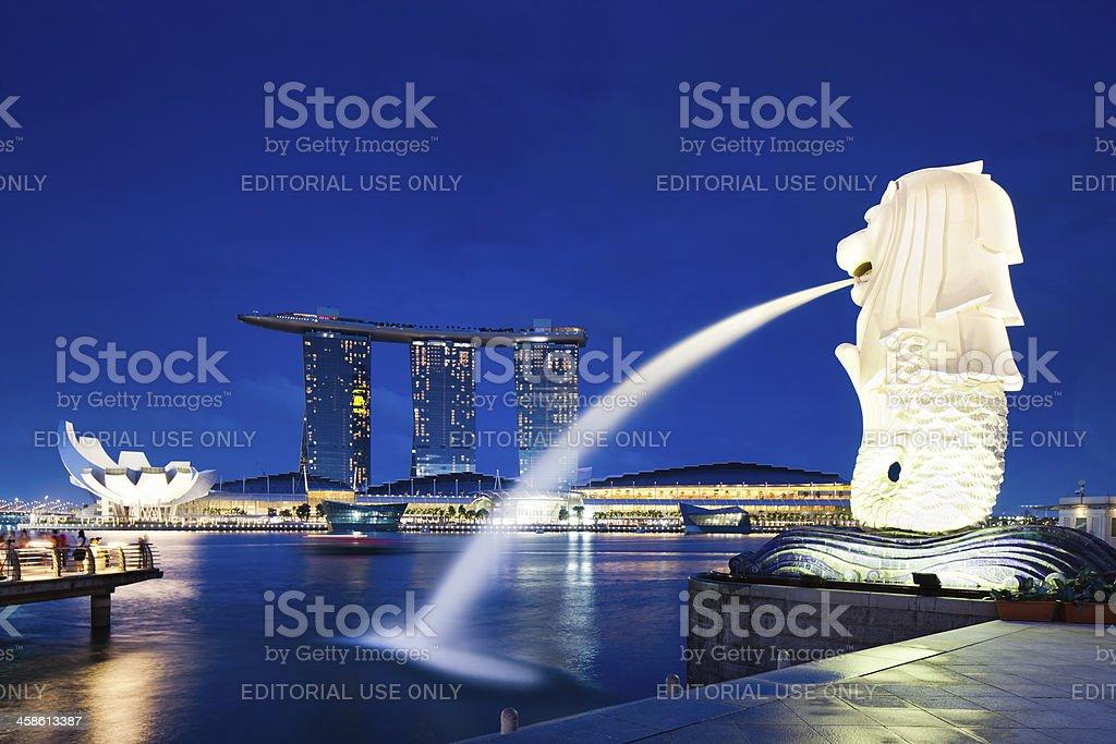 Merlion Statue, Singapore royalty-free stock photo
