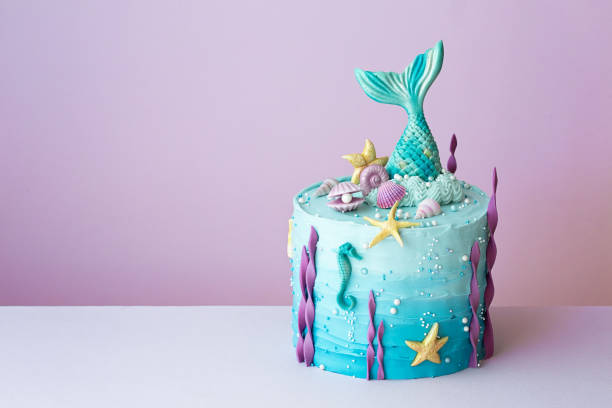 Meerjungfrau Geburtstagskuchen – Foto