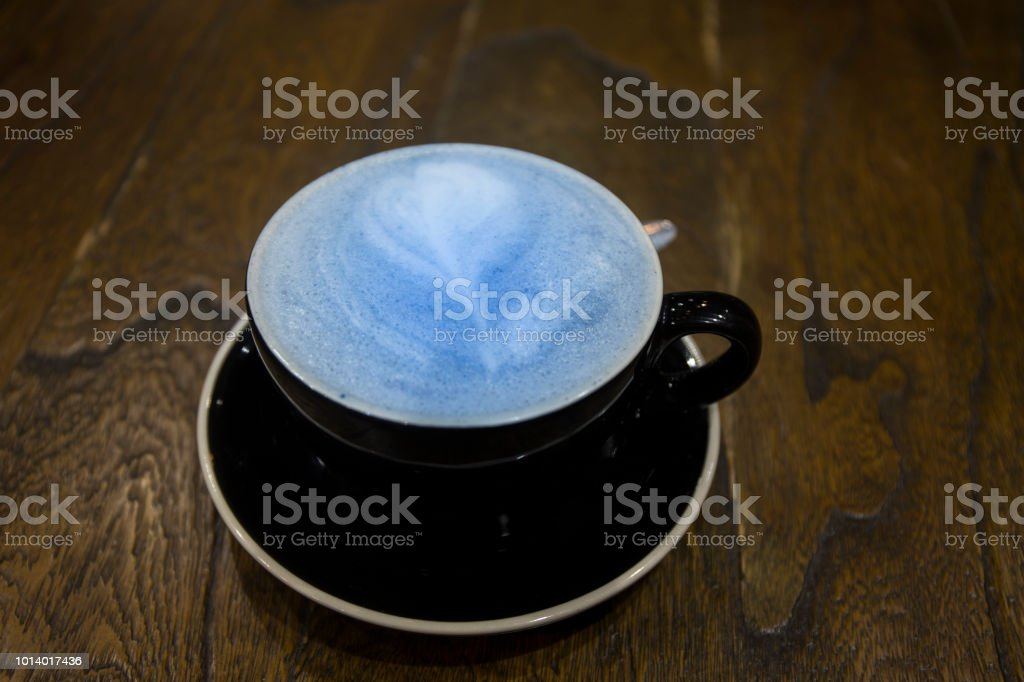 mermaid latte - coffee substitute stock photo