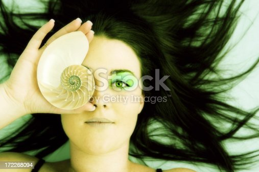 Woman with shell