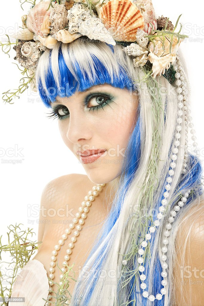 Mermaid Portrait royalty-free stock photo