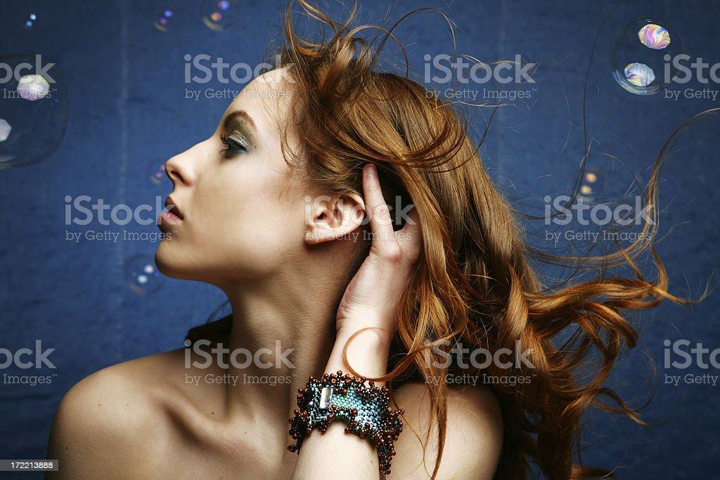 Mermaid Profile royalty-free stock photo