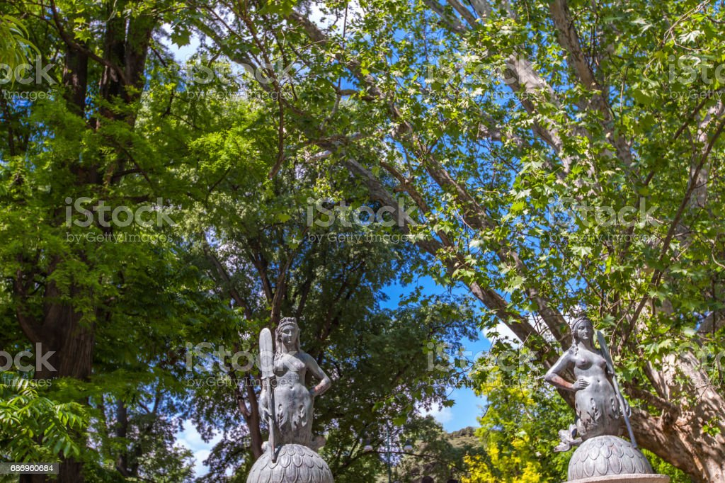 Mermaids bridge at Sempione Park in Milan stock photo