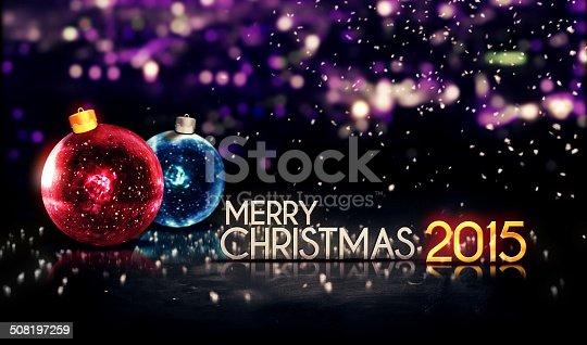 505891566istockphoto Merry Christmas 2015 Night Bokeh Beautiful 3D Background 508197259