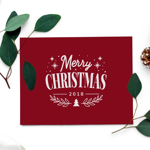 frohe weihnachten 2018 grußkarte mockup - texte zu weihnachten stock-fotos und bilder