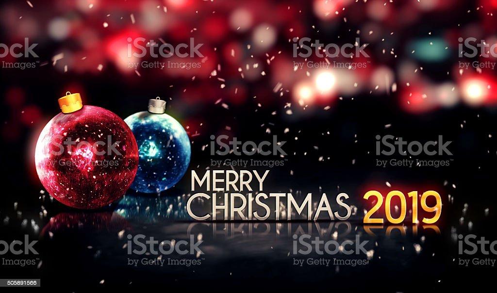 Buon Natale 3d.Buon Natale 2019 Notte Bokeh Bella 3d Sfondo Fotografie Stock E
