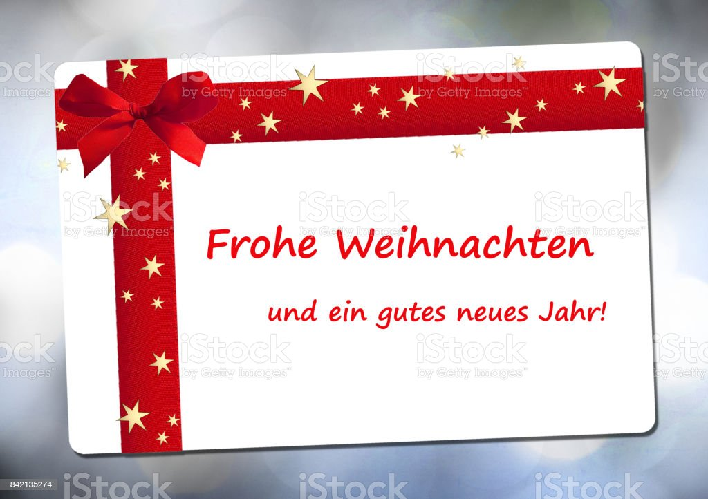 Merry Christmas and a happy new year in german language stock photo