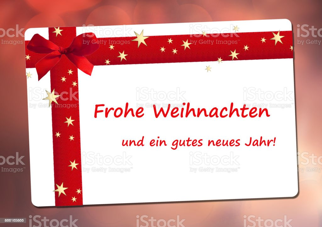 merry christmas and a happy new year in german royalty free stock photo