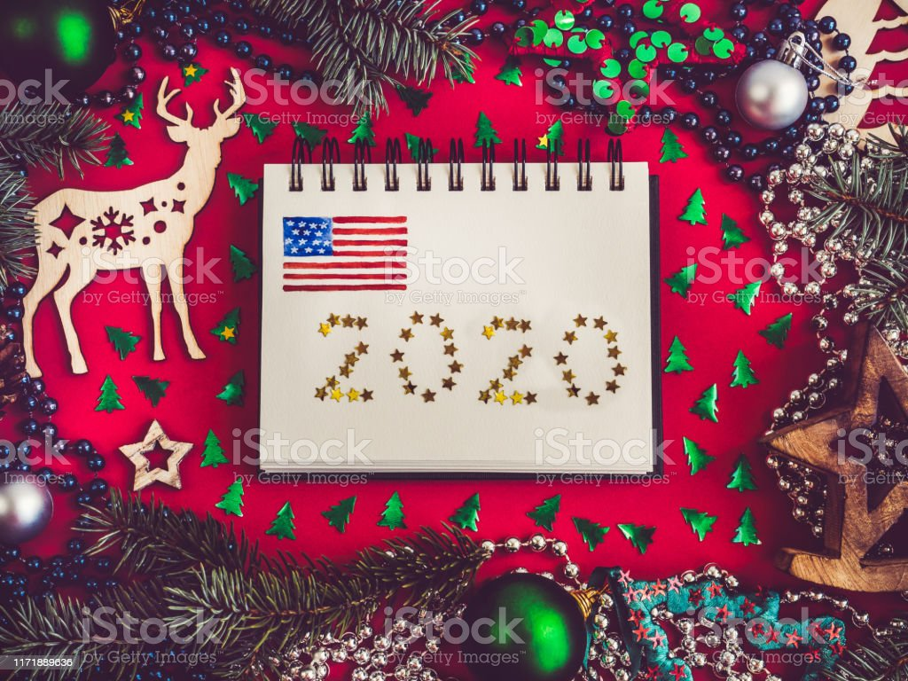Now Merry Christmas 2020 Merry Christmas And Happy New Year 2020 Stock Photo   Download