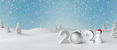 Merry Christmas and Happy New Year 2021 background for Greeting cards with copy space 3d render 3d illustration