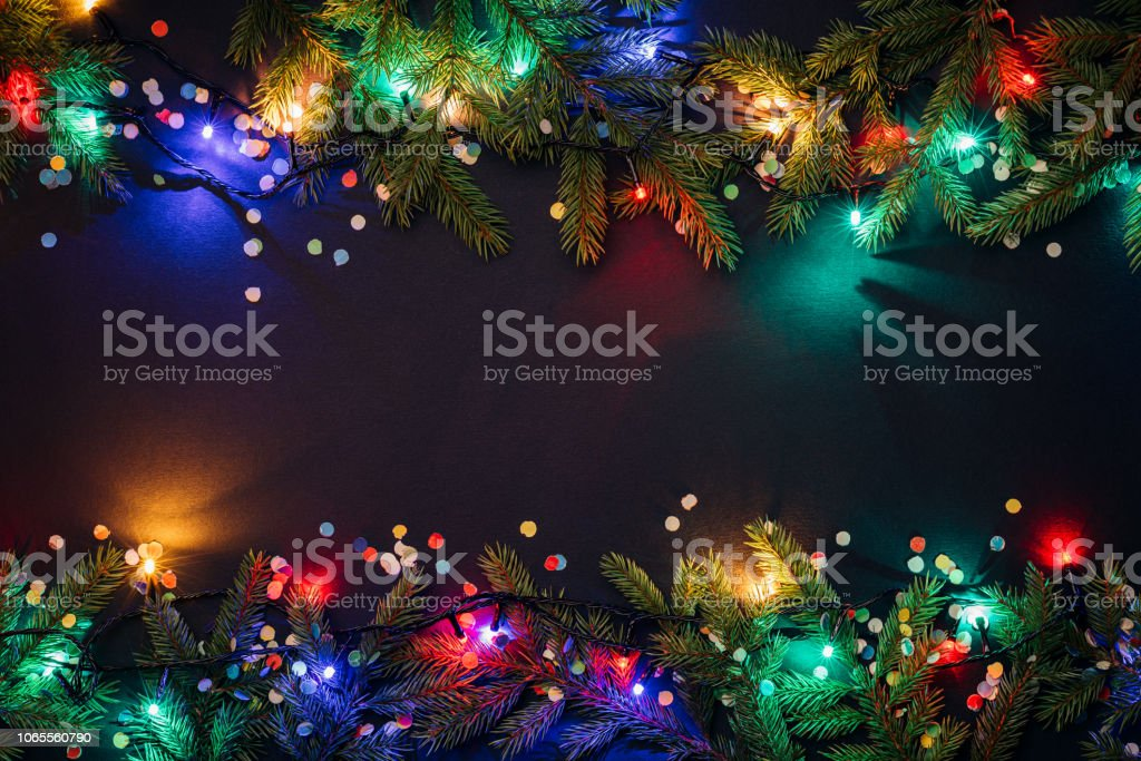 Merry christmas and happy new year background - Стоковые фото Pinaceae роялти-фри