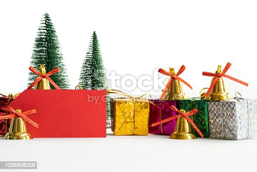 865140324 istock photo Merry Christmas and Happy new year, card and gift with copy space 1056608308