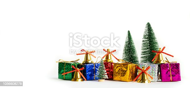 865140324 istock photo Merry Christmas and Happy new year, celebrate with new year gift 1056608278