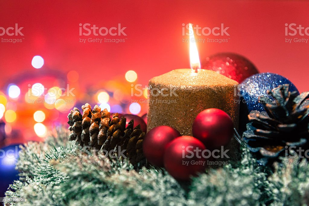 Merry Christmas and Happy New Year, Christmas decoration and presents stock photo