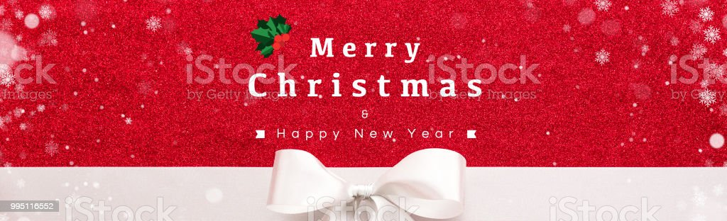 merry christmas and happy new year text on red velvet banner background royalty free stock