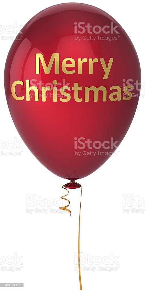 Merry Christmas Balloon Happy New Year Decoration Stock ...