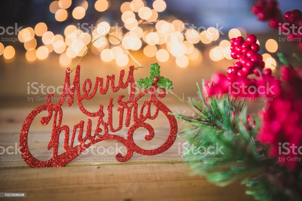 Merry Christmas Decoration stock photo