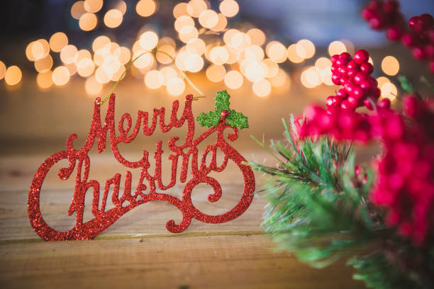 merry christmas decoration - текст стоковые фото и изображения