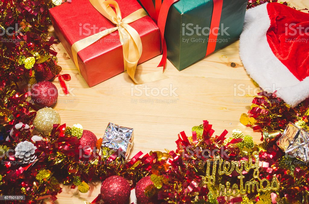 merry christmas font and decoration, background holiday Lizenzfreies stock-foto
