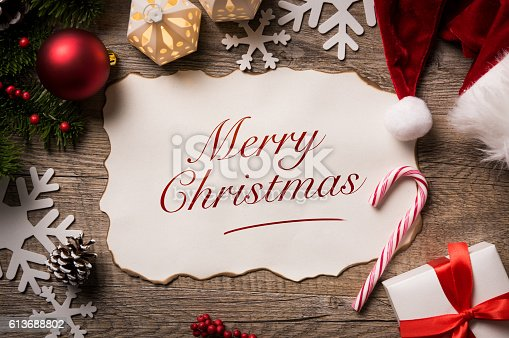 istock Merry Christmas from Santa 613688802
