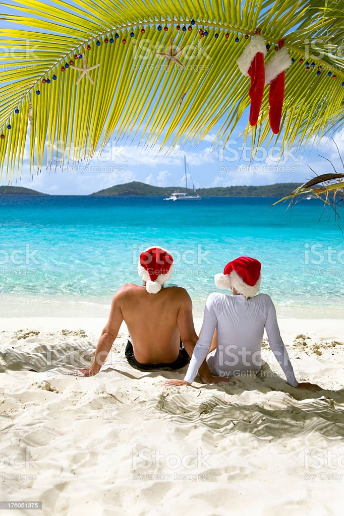 Merry Christmas from the Caribbean royalty-free stock photo