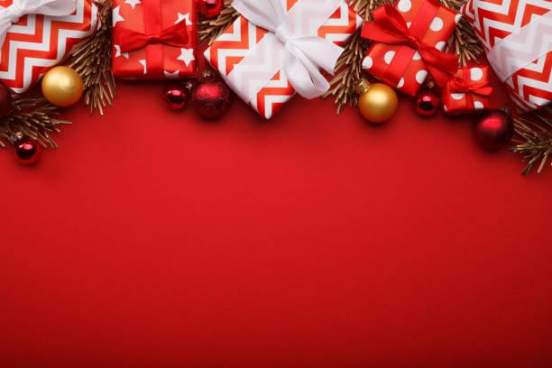 クリスマスつまらないものでメリー クリスマス ギフト ボックスの背景 - クリスマス ストックフォトと画像