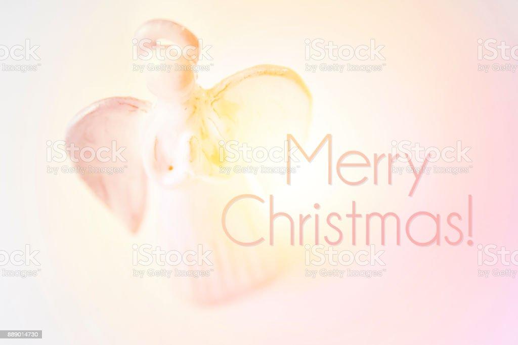 Merry christmas gift card. stock photo