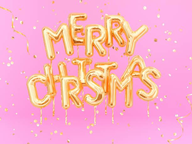 frohe weihnachten gold text auf rosa girly hintergrund - zitate weihnachten stock-fotos und bilder