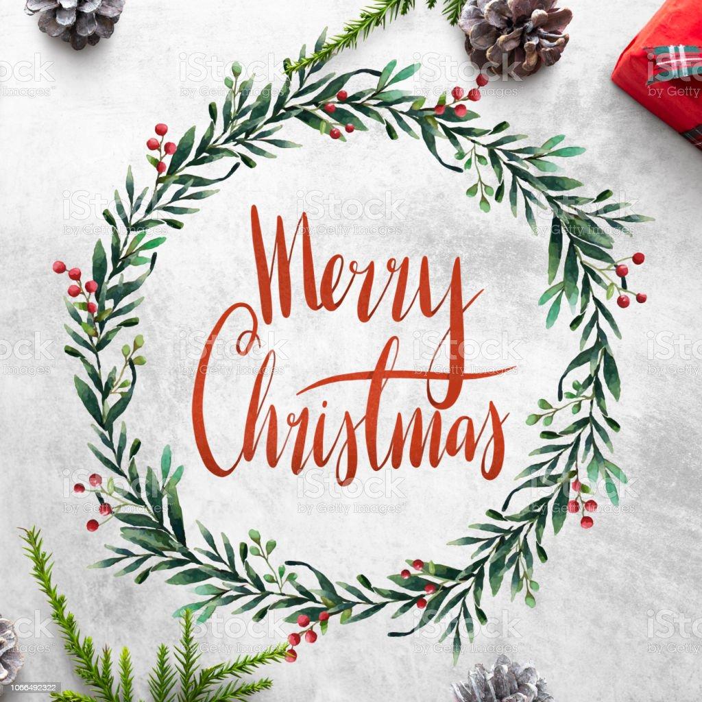 Merry Christmas greeting card mockup foto stock royalty-free