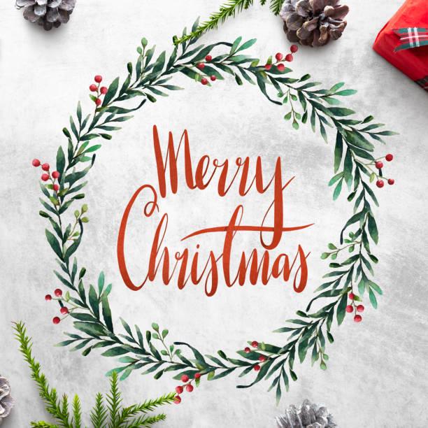 merry christmas wenskaart mockup - christmas stockfoto's en -beelden