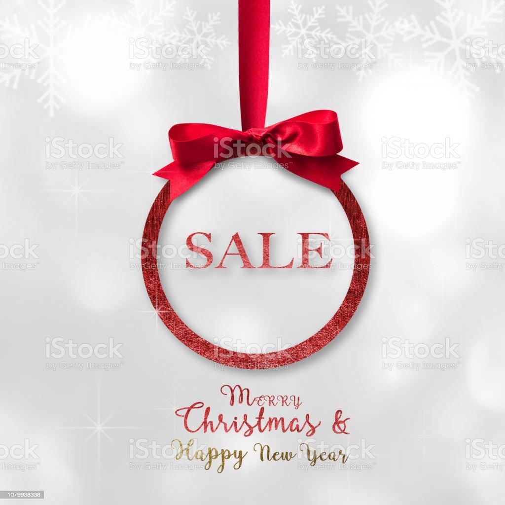 Frohe Weihnachten Band.Frohe Weihnachten Frohes Neues Jahr Schöne Runde Xmas Rote Kugel
