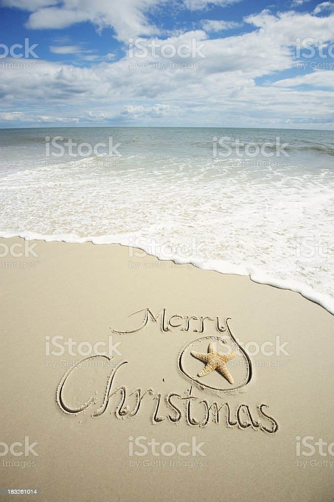 Merry christmas holiday greeting message scenic beach scene stock merry christmas holiday greeting message scenic beach scene royalty free stock photo m4hsunfo
