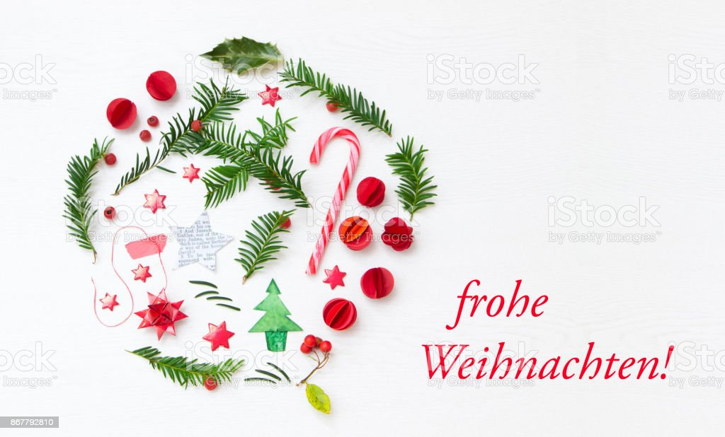 How Do You Say Merry Christmas In German.Merry Christmas In German Language Stock Photo Download