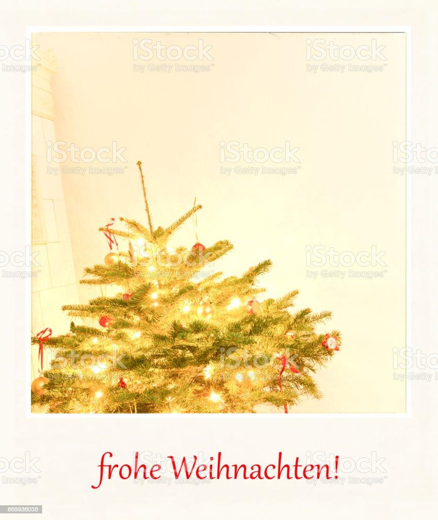 Single Weihnachten.Frohe Weihnachten Merry Christmas In German Language Stock Photo